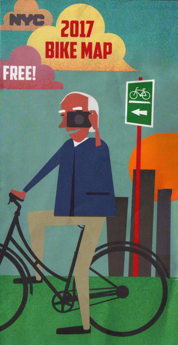 New York City 2017 Bike Map Pays Tribute to Bill Cunningham – Juan ...